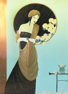 Chrysanthemum Song 1990 Limited Edition Print by Lillian Shao