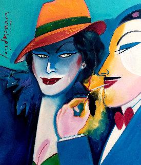 Paris Connection 1983 32x27 Original Painting by Earl Linderman