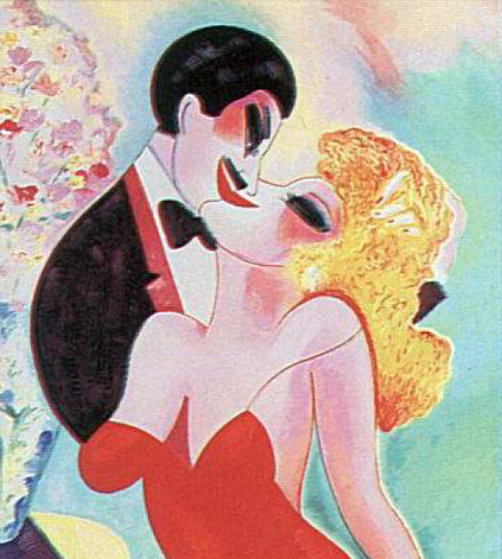 Slow Kiss Limited Edition Print by Earl Linderman