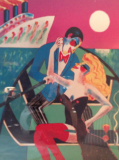 Fast Loves And Tropical Waters 1990 Huge 47x36 Limited Edition Print - Earl Linderman
