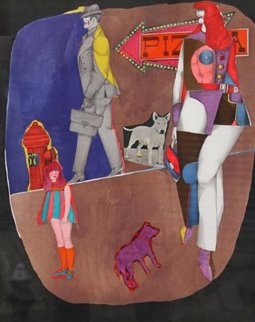 First Ave (Pizza) 1969 Limited Edition Print by Richard Lindner