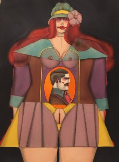 Femme Au Chapeau 1980's Limited Edition Print - Richard Lindner