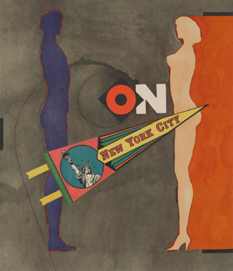 On (New York City) AP Limited Edition Print by Richard Lindner
