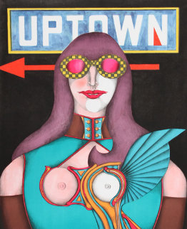 Uptown 1969 Limited Edition Print by Richard Lindner