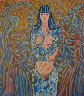 Goddess of the Roses 1988 Limited Edition Print by Zhou Ling