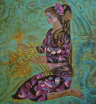 Girl in Violet 1989 Limited Edition Print - Zhou Ling
