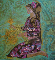 Girl in Violet 1989 Limited Edition Print by Zhou Ling - 2