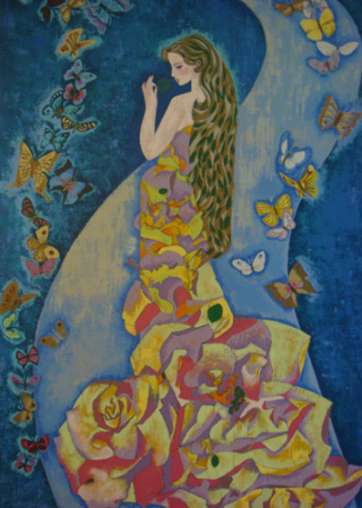 Spirit of Butterflies 1990 Limited Edition Print by Zhou Ling