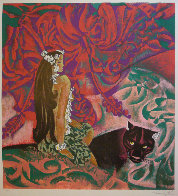 Black Panther 1989 39x37 Super Huge  Limited Edition Print by Zhou Ling - 2