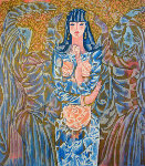 Goddess of the Roses 1988 Limited Edition Print - Zhou Ling