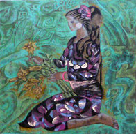 Girl in Violet 1989 Limited Edition Print by Zhou Ling - 0
