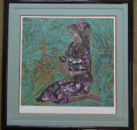 Girl in Violet 1989 Limited Edition Print by Zhou Ling - 1