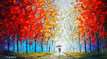 Warmed By Your Love 2015 26x40 Original Painting - Slava  Ilyayev