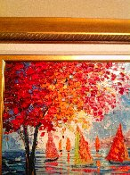 Out on the Water 2015 31x35 Huge Original Painting by Slava  Ilyayev  - 4