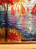 Out on the Water 2015 31x35 Huge Original Painting by Slava  Ilyayev  - 2
