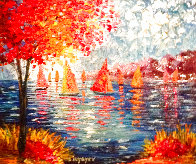 Out on the Water 2015 31x35 Huge Original Painting by Slava  Ilyayev  - 0