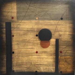 Maci  2004 48x48 Original Painting - Emilio Lobato