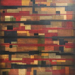 Promesas Y Babalaoes 2004 48x48 Original Painting - Emilio Lobato