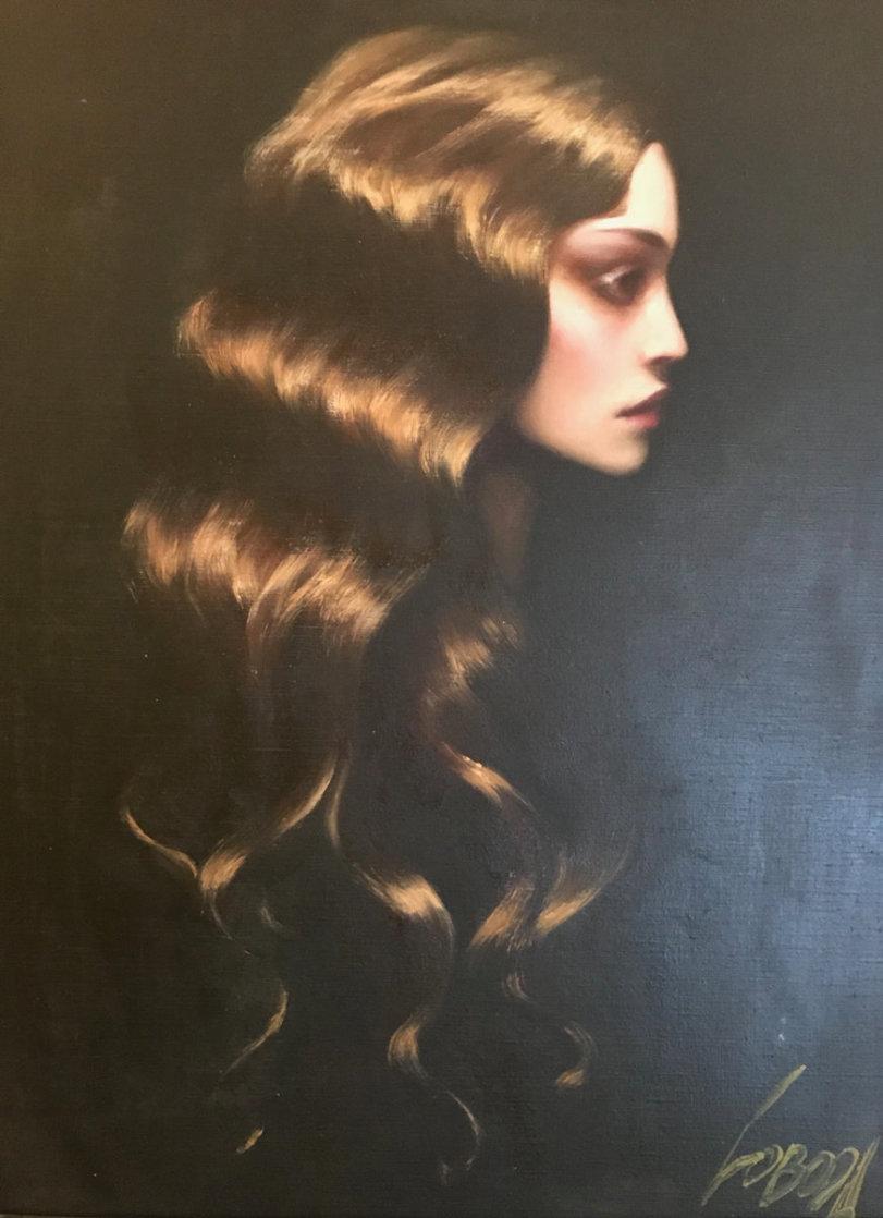 Golden Hair 38x32 Original Painting by Taras Loboda