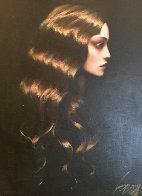 Golden Hair 38x32 Original Painting by Taras Loboda - 0