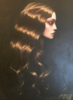Golden Hair 38x32 Original Painting - Taras Loboda