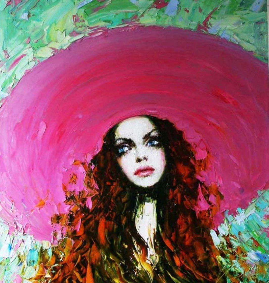 Solange 2010 29x25 Original Painting by Taras Loboda