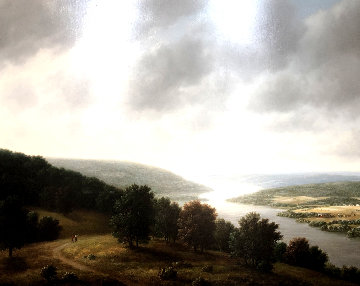 River 1979 42x50  Huge Original Painting - Thomas Locker