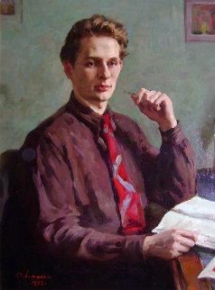 O.D. Artamonov 1953 40x32 Original Painting - Oleg Lomakin
