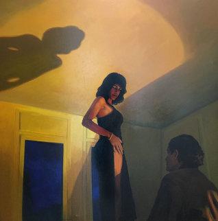 Private Dancer 1997 59x59 Original Painting - Ramon Lombarte