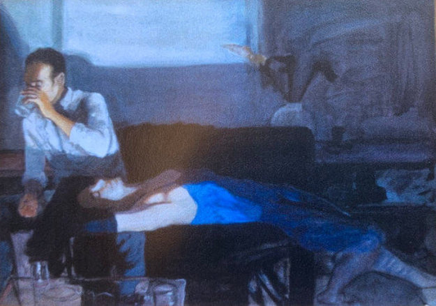 Viernes From Sunday Series 1986 40x52 Original Painting by Ramon Lombarte
