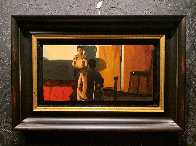 No Te Quites Us Manos 1998 16x24 Original Painting by Ramon Lombarte - 2