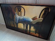 Yes Possible 1995 41x67 Super Huge Original Painting by Ramon Lombarte - 2