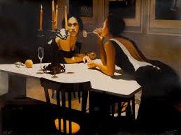 Sunday Eleven Oclock PM.  1990 Limited Edition Print by Ramon Lombarte