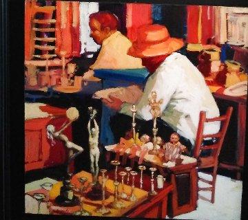 Encants Candels 1988 19x19 Original Painting - Ramon Lombarte