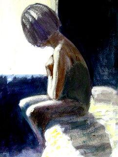 Woman 1999 20x15 Original Painting - Ramon Lombarte