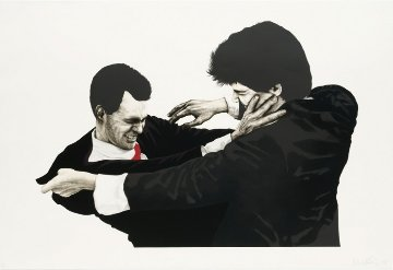 Frank and Glen 1991 45x60 Super Huge Limited Edition Print - Robert Longo