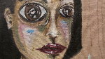 Untitled Portrait 21x18 Original Painting - Ashley Longshore