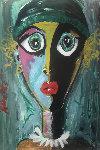 Sullen 2000 36x24 Original Painting - Ashley Longshore