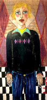 Cockels 48x24 Original Painting - Ashley Longshore