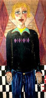 Cockels 48x24  Huge Original Painting - Ashley Longshore