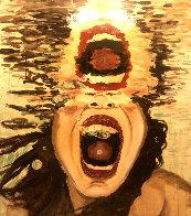 Scream 60x47 Super Huge Original Painting by Ashley Longshore - 0