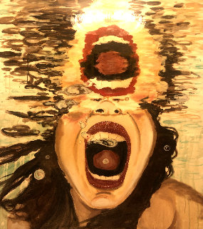 Scream 60x47 Huge Original Painting - Ashley Longshore