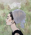 Audrey Hepburn 2010 30x30 Original Painting - Ashley Longshore