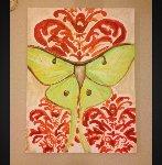 Luna Moth As Seen in Twilight Breaking Dawn 1 2012 40x30 Original Painting - Ashley Longshore