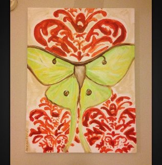 Luna Moth As Seen in Twilight Breaking Dawn 1 2012 40x30 Original Painting - Ashley Longshore