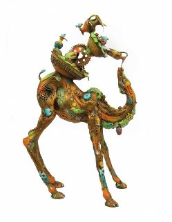 Phillipe Jr. (Medium) Bronze Sculpture  2016 14 in Sculpture - Nano Lopez