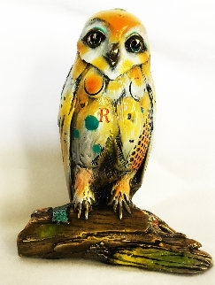 Samuel (Small Owl) Bronze Sculpture 2005 6 in Sculpture - Nano Lopez