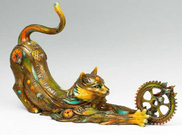 Catfish Lily Bronze Sculpture 2008 31 in Sculpture - Nano Lopez