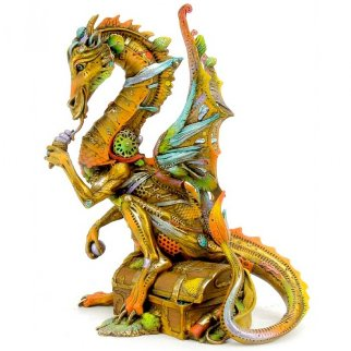 Little Davian the Dragon Bronze Sculpture 2014 11 in  Sculpture - Nano Lopez