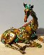 Tina Bronze Sculpture 2009 16 in with Lithograph Sculpture by Nano Lopez - 9
